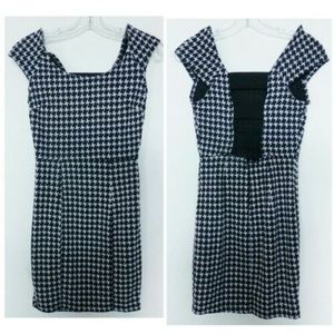 Wet Seal Black White Houndstooth Dress S Classic